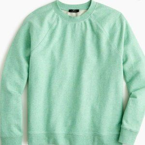 NWT J. Crew Crewneck Sweatshirt in Speckled Mint
